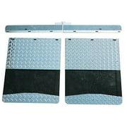 Go Industries - D70730SET - Dually Mud Flap Set - Diamond Tread Set - Includes F