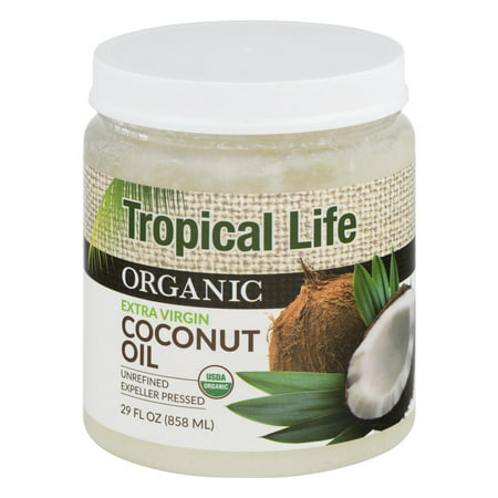 tropical life organic coconut oil 29 0 fl oz. Black Bedroom Furniture Sets. Home Design Ideas