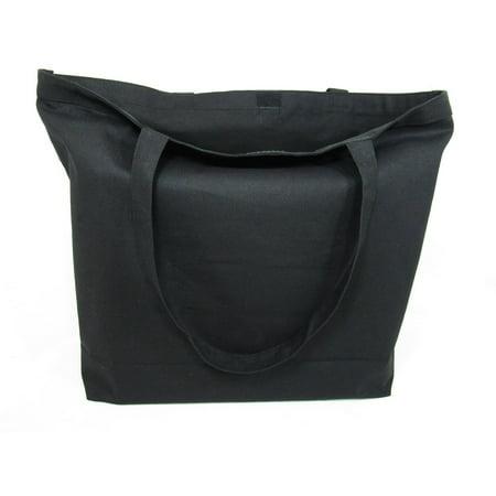 4c33b3ed08b154 TBF - Set of 6- Eco-Friendly Extra Large Canvas Tote Bag w/Velcro Closure  Craft Beach Shopping School Blank Tote Bag - Walmart.com