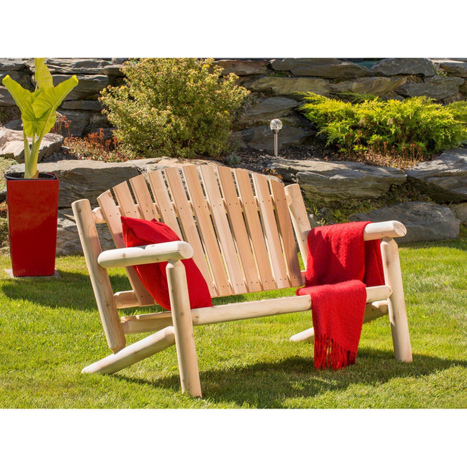 Bestar White Cedar Patio Settee