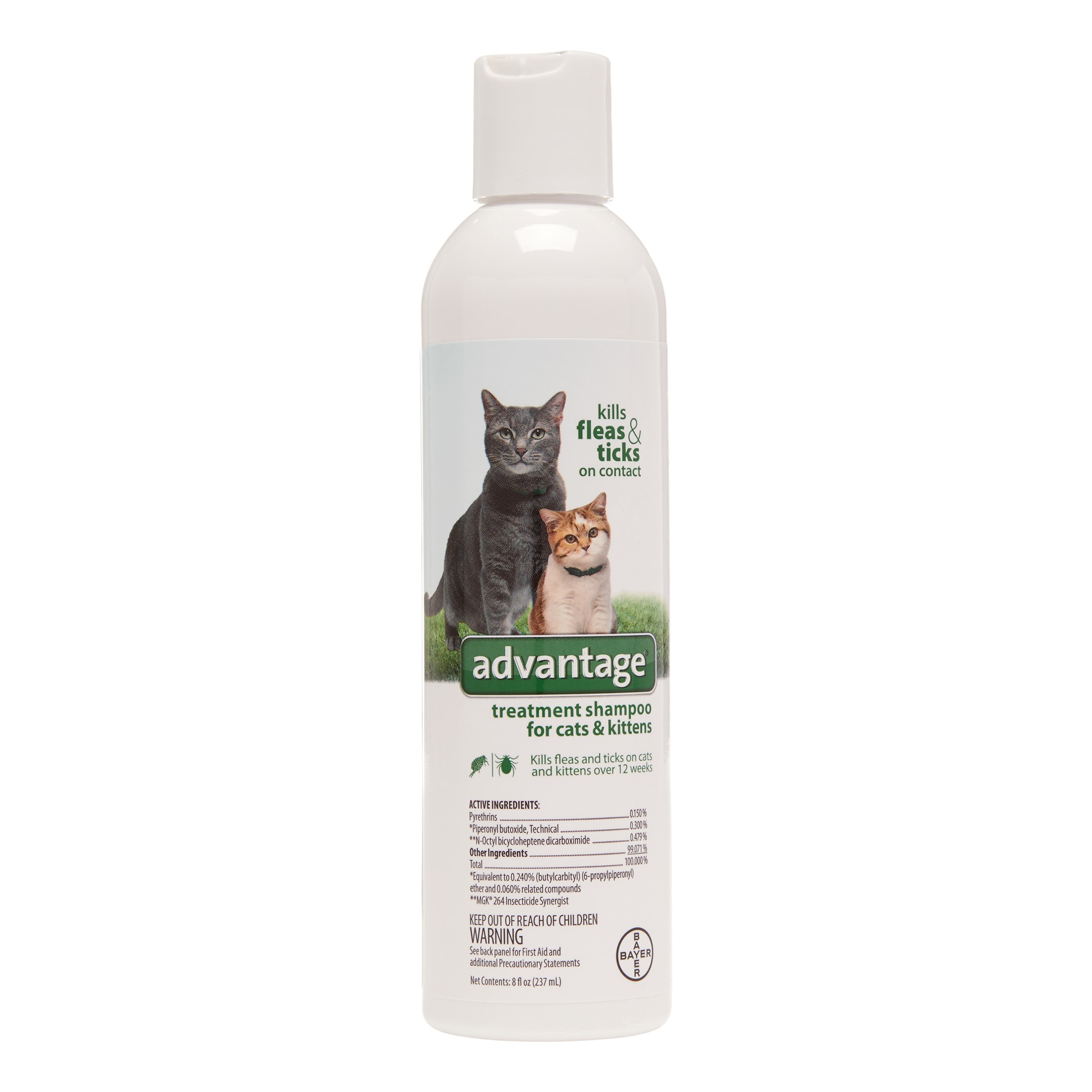 Image of Advantage II Cat/Kitten Flea & Tick Shampoo, 8 Oz