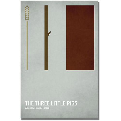 "Trademark Art ""Three Little Pigs"" Canvas Art by Christian Jackson"
