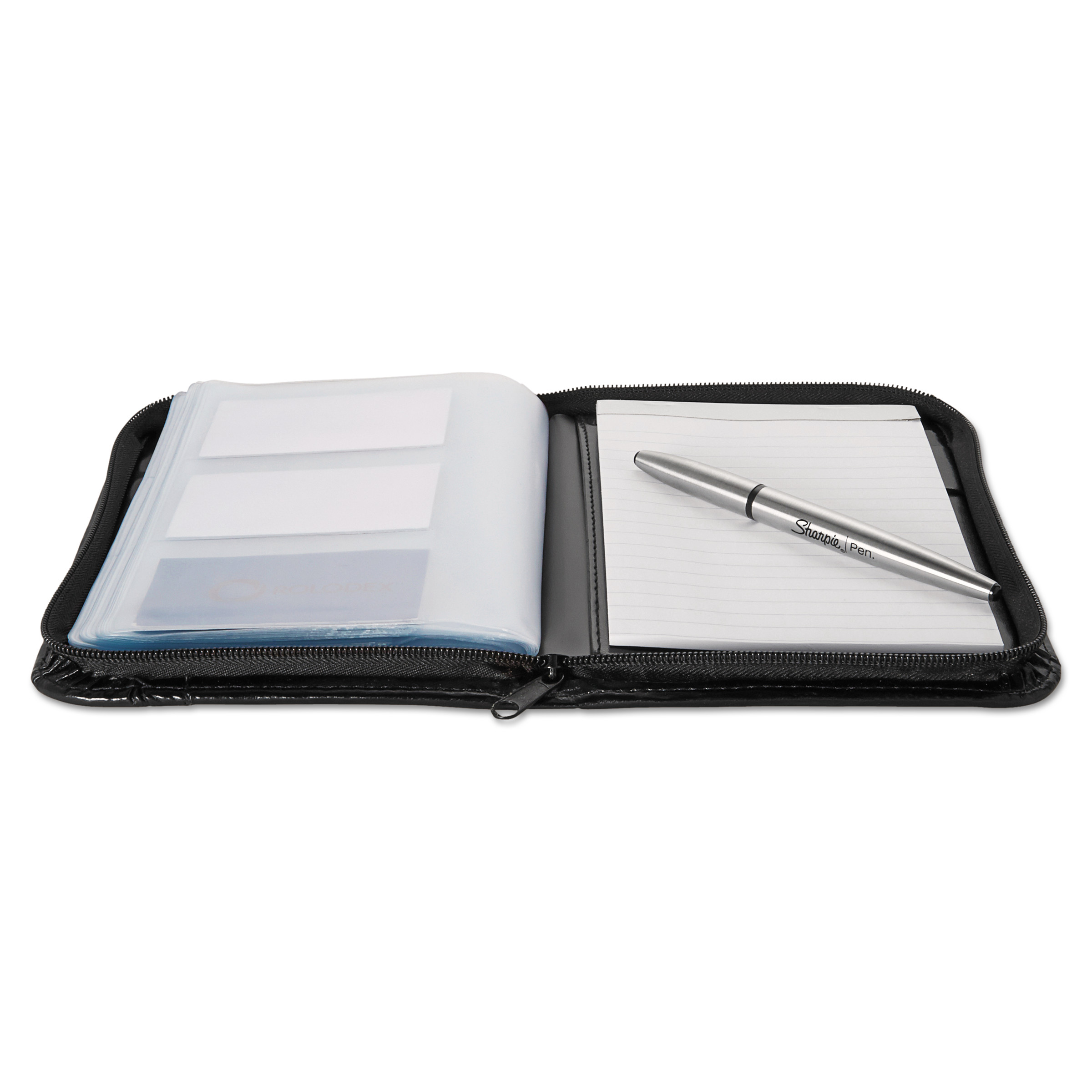 Rolodex faux leather business card book with zipper holds 120 2 1 rolodex faux leather business card book with zipper holds 120 2 14 x 4 cards black walmart magicingreecefo Image collections