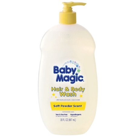 Baby Magic Gentle Hair & Body Wash, Soft Powder Scent 30 oz (Pack of 3) - Baby Powder In Hair Halloween
