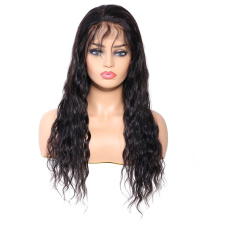 Remy Lace - Unice Bettyou Series Water Wave Lace Front Human Hair Wigs Pre Plucked Natural Hairline Remy Hair, 22