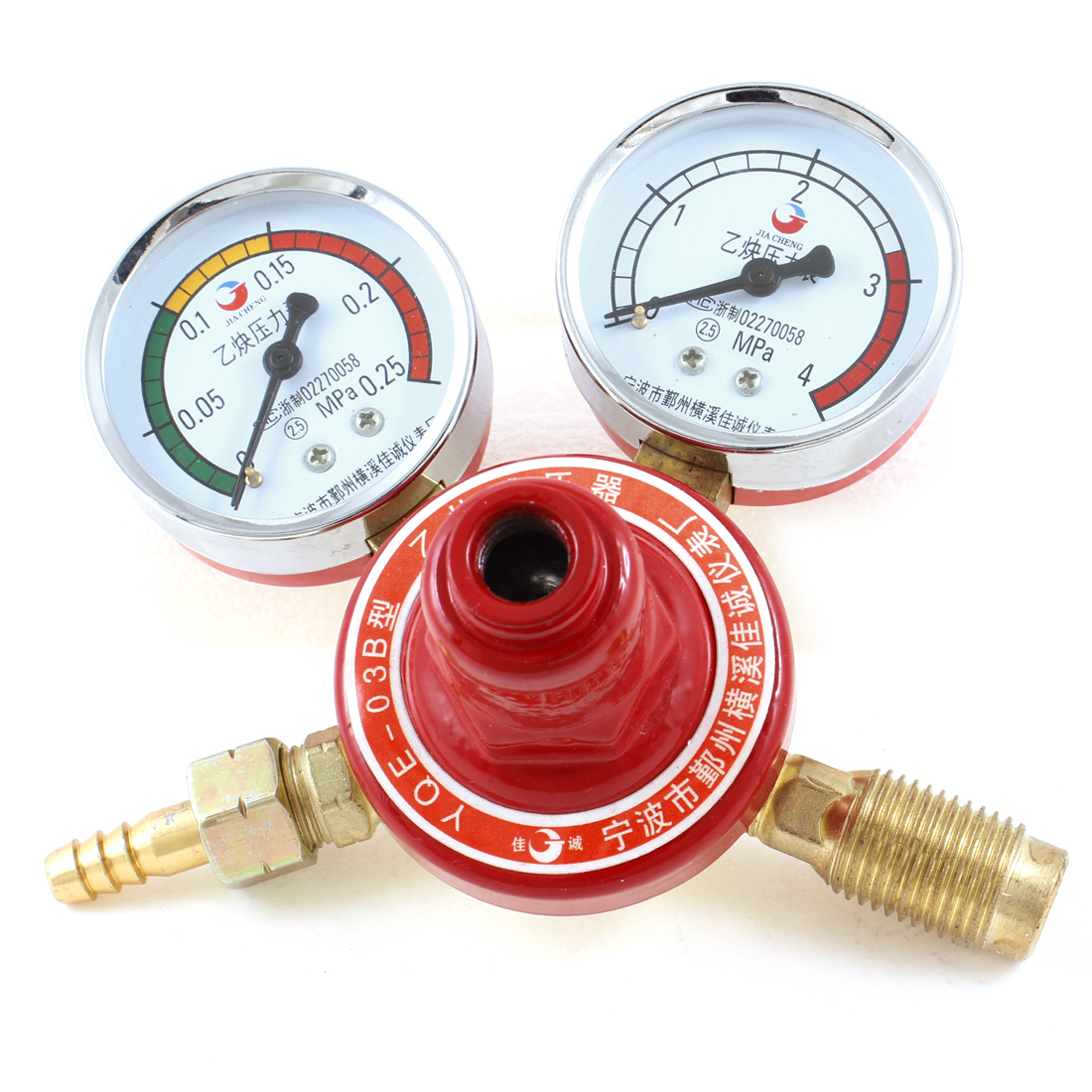 G5/8 Inlet Male Thread  Dissolved Acetylene Gas Pressure Gauges Regulator