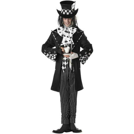Dark Mad Hatter Men's Adult Halloween Costume (Mad Hatter Headband)