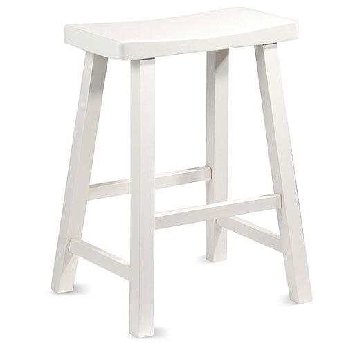 "Saddle Seat 24"" Counter Stool, White"