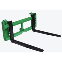 """Titan Attachments Heavy Duty Pallet Fork Frame and 42"""" Fork Blades 3000 lb Capacity with 2"""" Trailer Receiver Hitch Fits John Deere Loader Easy to Install"""