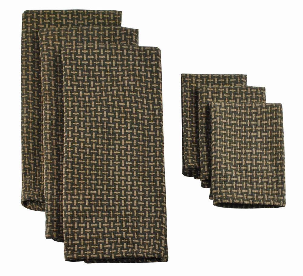 Pack of 6 Dark Chocolate Brown Basket Weave Dish Towel and Wash Cloth Kitchen Accessory Set