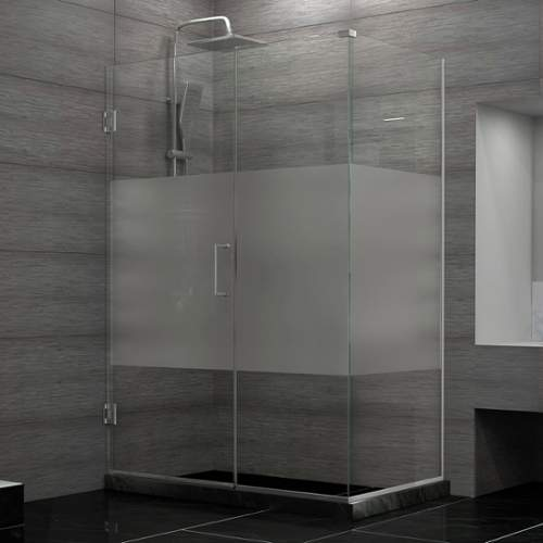 Bath Authority SHEN-24545300-HFR-04 DreamLine Unidoor Plus 54-1/2 inch W x 30-3/8 inch D x 72 inch H Hinged Shower