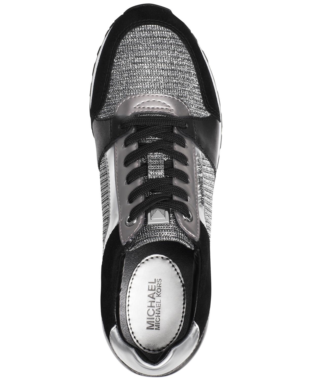 5a16d25683ca Michael Kors - Michael Kors MK Women s Billie Trainer Chain Mesh Sneakers  Shoes Black Silver (5) - Walmart.com