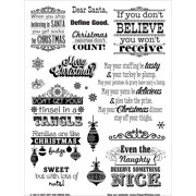 """Hot Off The Press Acrylic Stamps 6""""X8""""-Naughty & Nice"""