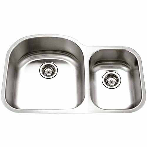Houzer STC-2200SR-1 Eston Series Undermount Stainless Steel Double Bowl Kitchen Sink