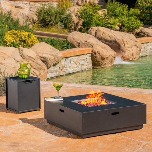 Latitude Run Lefkowski Outdoor Cast Iron Propane Firepit Table by