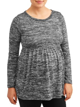Maternity Time and Tru Long Sleeve Peplum Knit Top (Available in Multiple Colors)