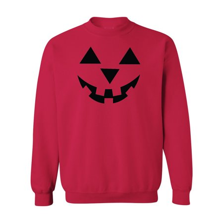 Jack O' Lantern Pumpkin Halloween Costume Mens Womens Crewneck Sweatshirt