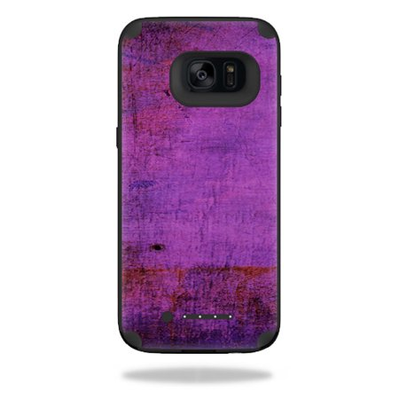 Mightyskins Protective Vinyl Skin Decal For Mophie Juice Pack Samsung Galaxy S7 Edge Case Wrap Cover Sticker Skins Purple Sky