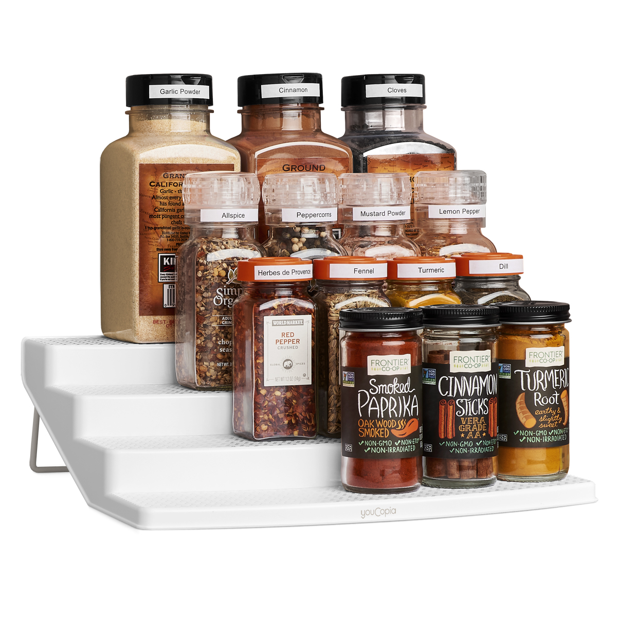 YouCopia SpiceSteps 24-Bottle Spice Organizer