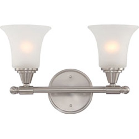 Replacement for 60/4142 SURREY 2 LIGHT VANITY FIXTURE WITH FROSTED GLASS BRUSHED NICKEL CONTEMPORARY replacement light bulb (Surrey 2 Light)