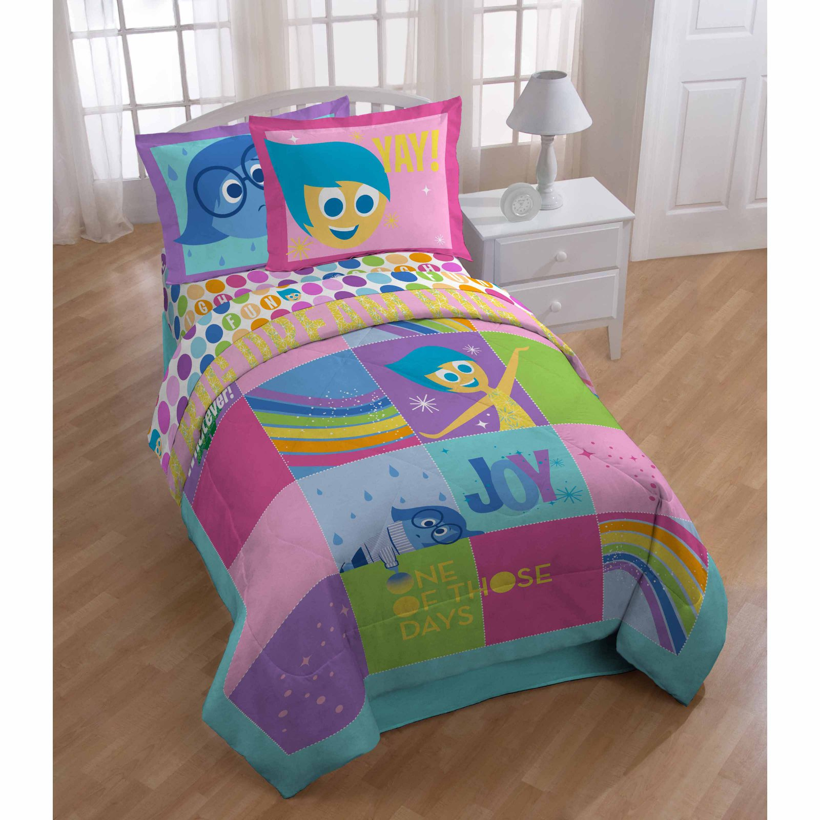Inside Out Rainbow Patchwork Reversible Comforter by Disney