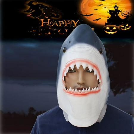 Cotonie Christmas Halloween Latex Animal Head Mask Shark For All Occasions