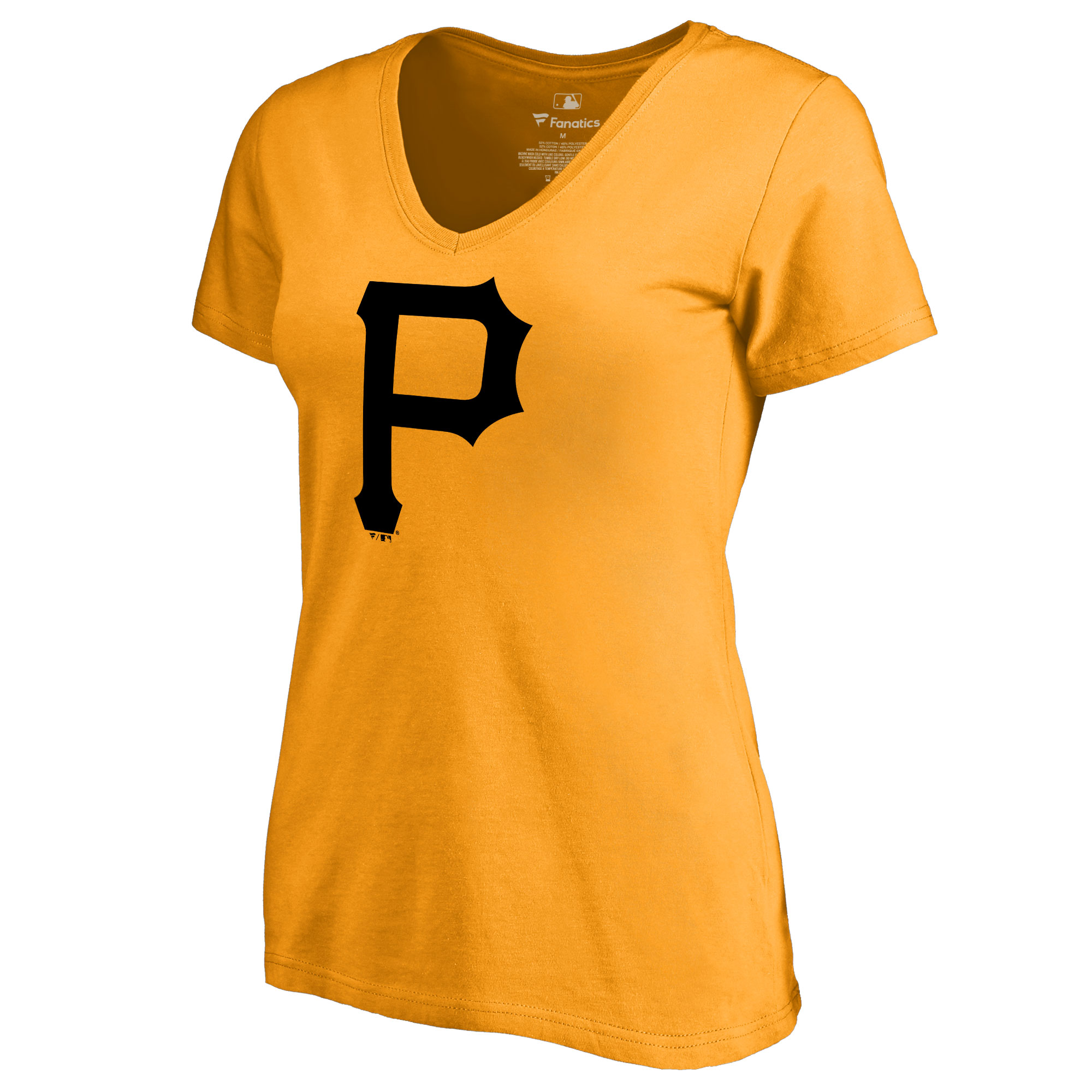 Pittsburgh Pirates Women's Secondary Color Primary Logo T-Shirt - Gold