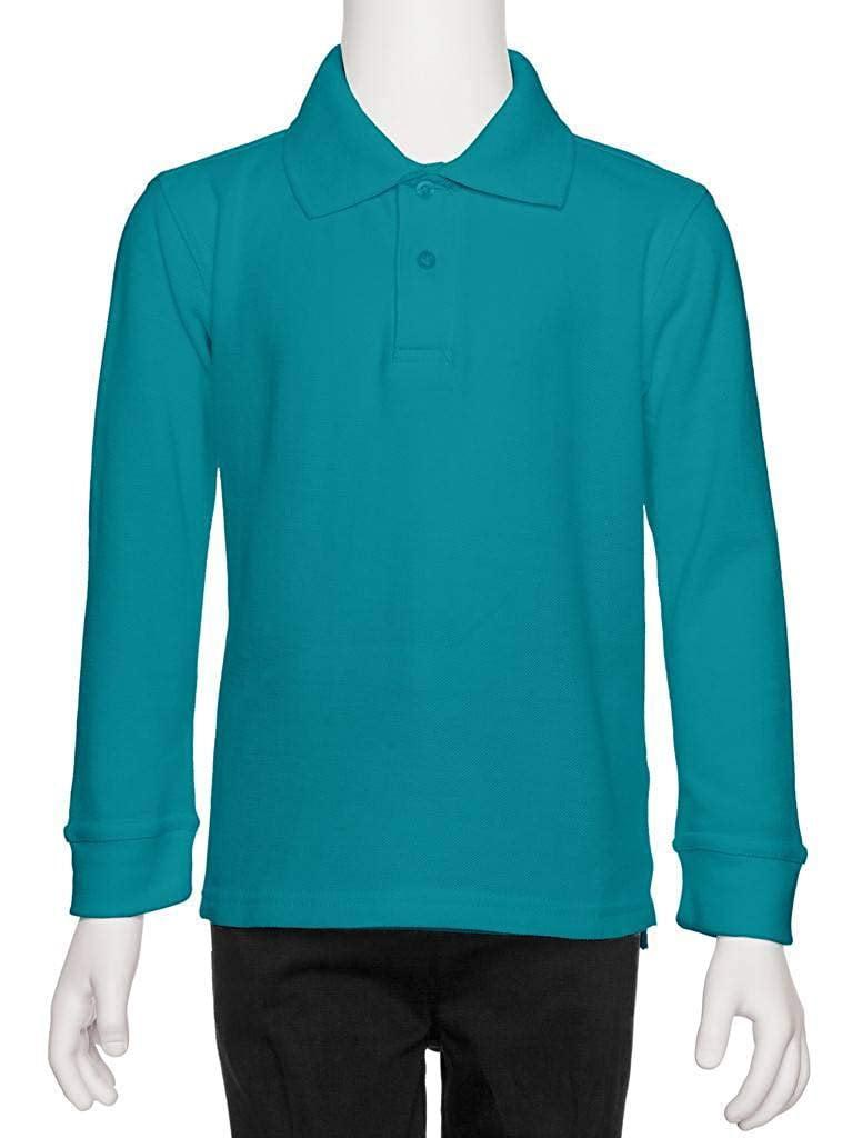 aka Boys Long Sleeve Pique Polo Shirt