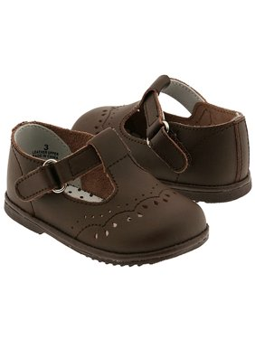 Baby Toddler Girls Brown Eyelet Design Mary Jane Trendy Shoes Size 1-7