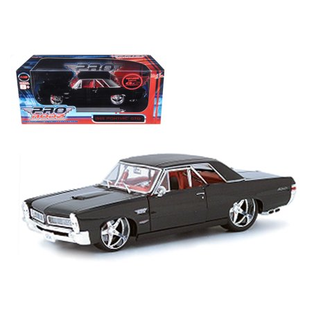 Gtr Diecast Car - 1965 Pontiac GTO Black Custom 1/18 Diecast Car Model by Maisto
