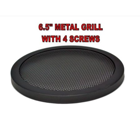 "6.5"" INCH CAR SPEAKER GRILL WOOFER STEEL MESH  WITH SPEED CLIPS AND SCREWS GT-6.5"