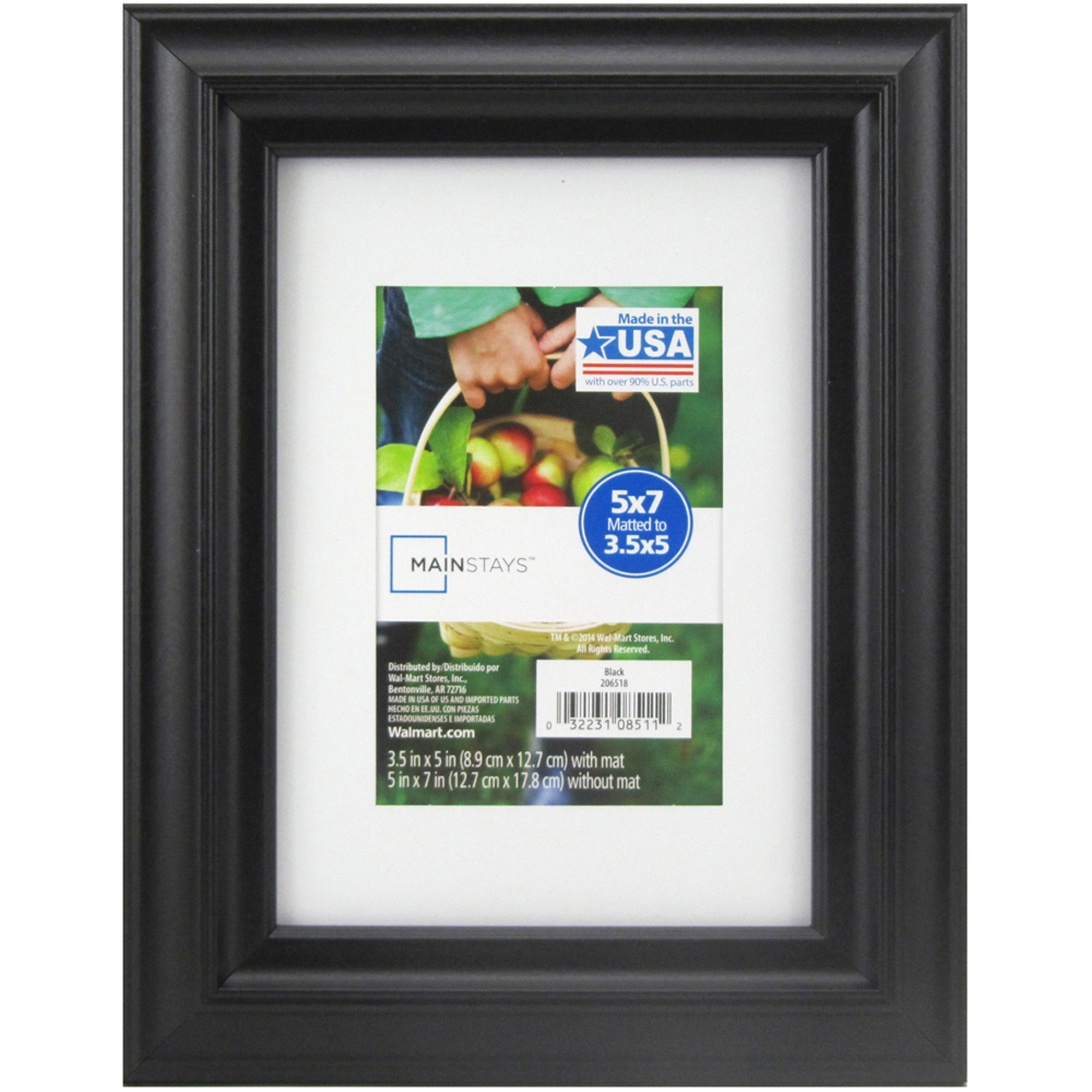 Mainstays Matted Black Picture Frame