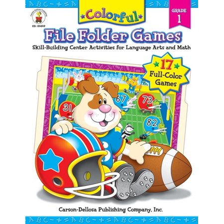 Colorful File Folder Games, Grade 1 : Skill-Building Center Activities for Language Arts and Math