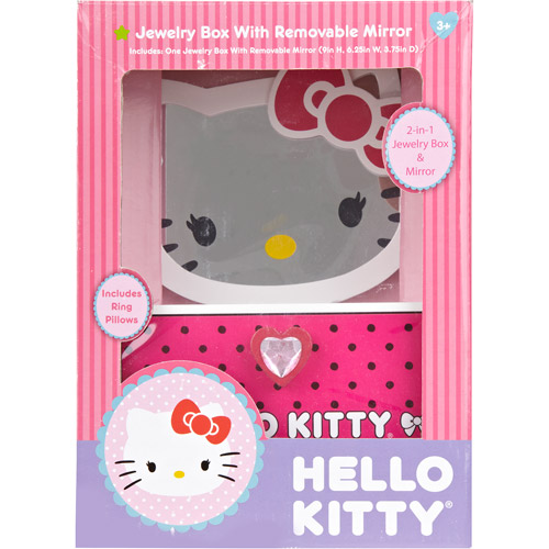 Hello Kitty Jewelry Box with Removable Mirror Walmartcom