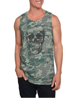 96f711bce6d76 Product Image Men s Camouflage Skull Graphic Tank Top