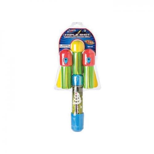 Toysmith 325945 Triple Shot Whistling Rocket