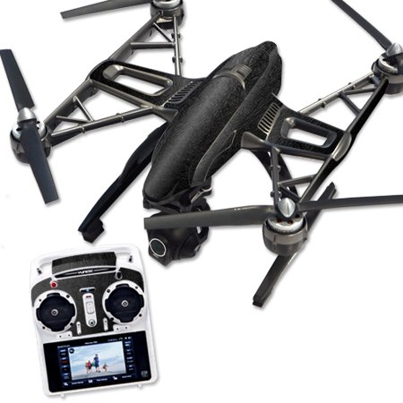 Skin Decal Wrap for Yuneec Q500 & Q500+ Quadcopter Drone Black Leather