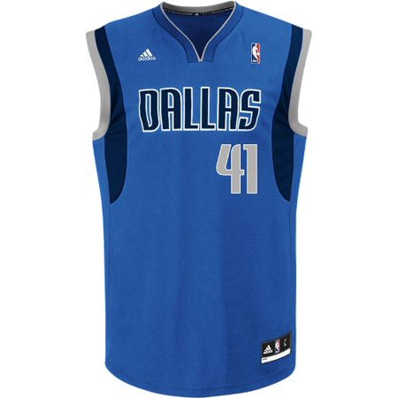 Dirk Nowitzki Adidas NBA Dallas Mavericks Revolution Replica Jersey Blue by