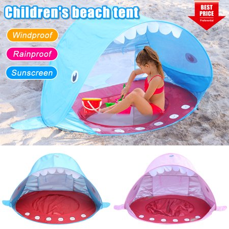 Amerteer Pop Up Baby Beach Tent, Lightweight kids Shade Pool Play Tent Pop Up Tent Sun Shade Instant Tent 50 SPF UV Protection Sun Shelter Canopy Toy Beach Umbrella Tent for