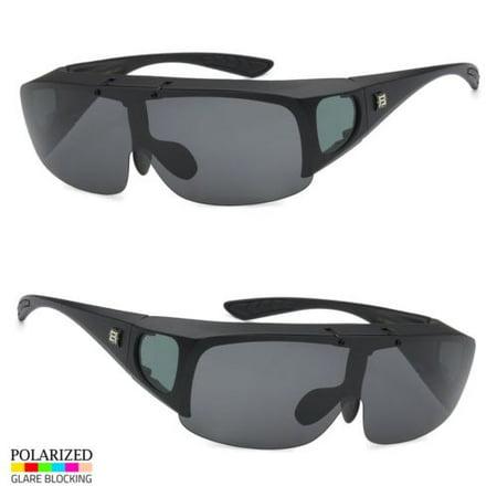 8c6a2ff67c3 Polarized Sunglasses Cover Put Wear fit over Prescription Glasses Driving  MBlack - Walmart.com