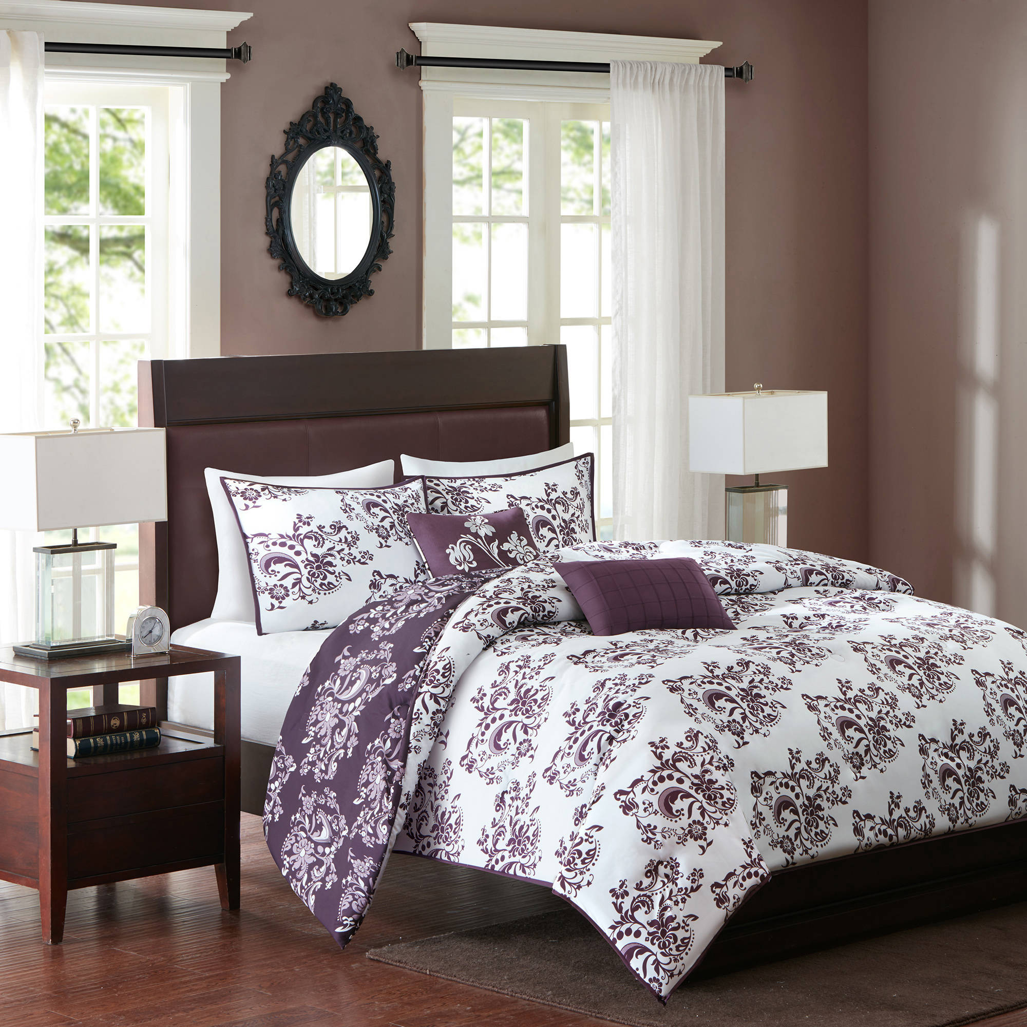 Better Homes and Gardens Amethyst Blooms Comforter Set