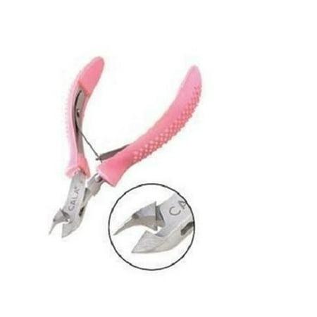 Cuticle Nipper Pink Comfort Grip - (1 Piece)