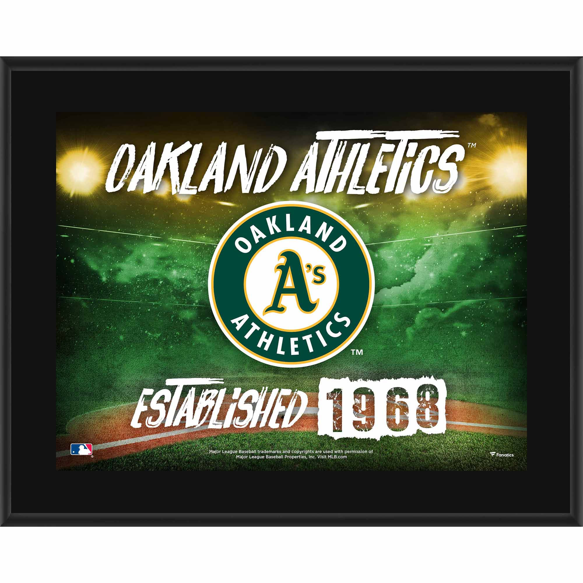 "Oakland Athletics Fanatics Authentic 10.5"" x 13"" Sublimated Horizontal Team Logo Plaque - No Size"