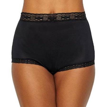Olga 873 Secret Hug Nylon Scoop Full Brief Panties Full Coverage Lace Panties