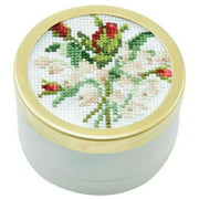 Herrschners  May Lily of The Valley Music Box Counted Cross-Stitch Kit