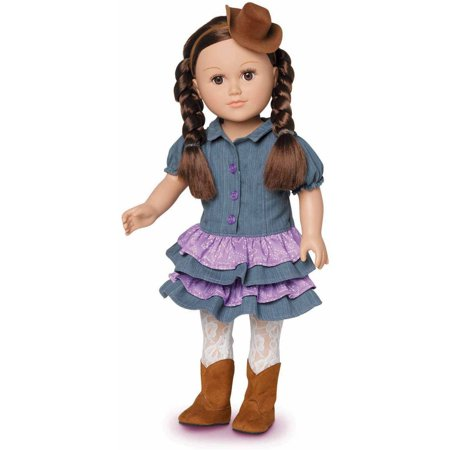 My Life As Cowgirl 18 Inch Posable Doll With Soft Torso