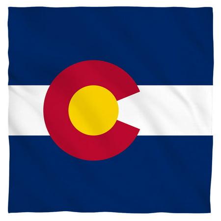 Colorado Flag Bandana (White, 22x22)