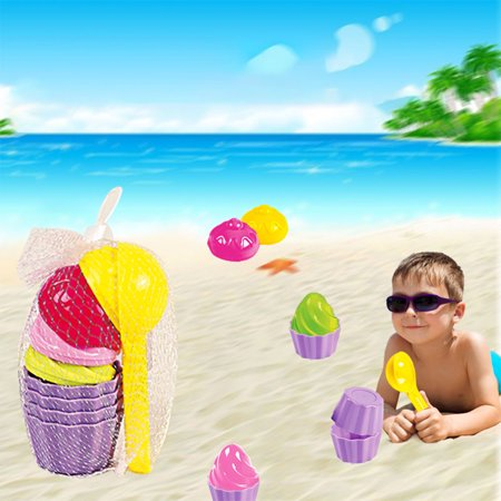 Baby Beach Toys (Kids Baby Beach Sand Toys Ice Cream Mould Spoon Play Sand and Snow Toy)