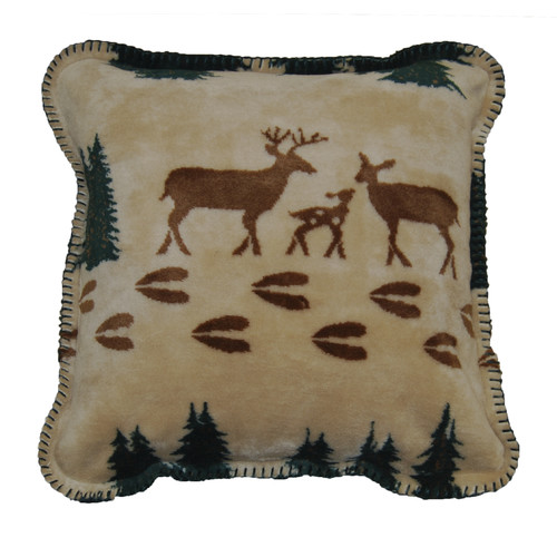 Denali Throws Deer Throw Pillow