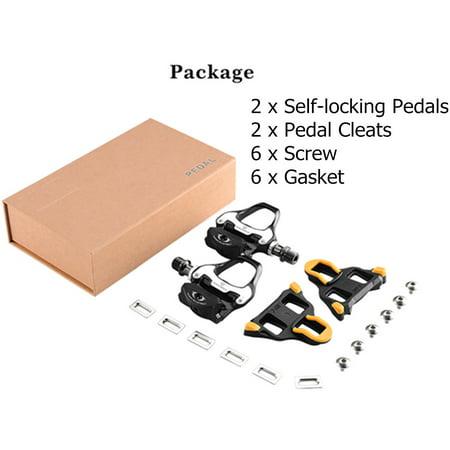 Cycling Road Bike Bicycle Self-Locking Pedals for SHIMANO SPD SL Road Bike CX9U4